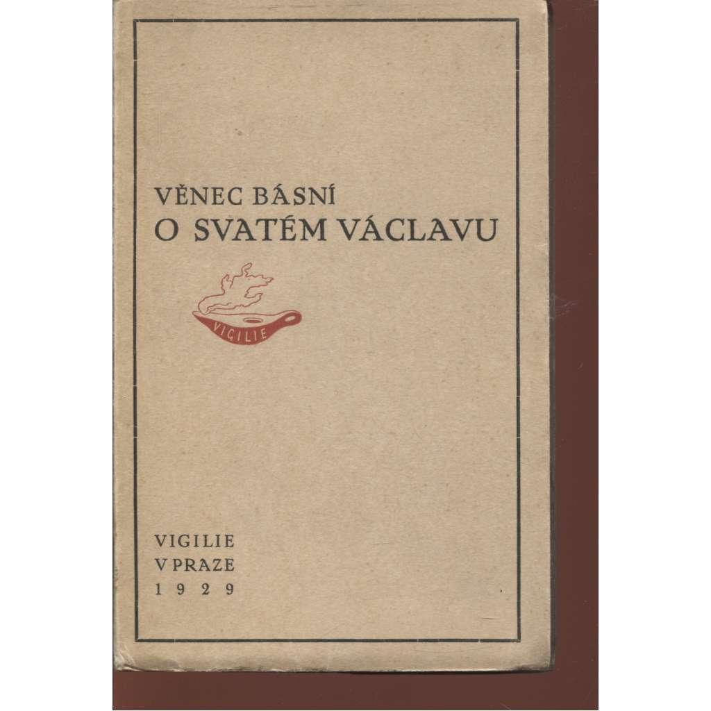 Věnec básní o Svatém Václavu (svatý Václav, dřevoryt Jan Bauch)