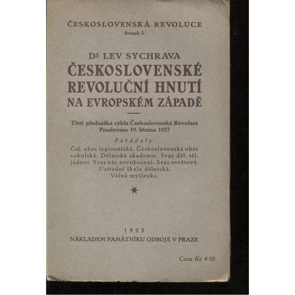 Československé revoluční hnutí na evropském západě