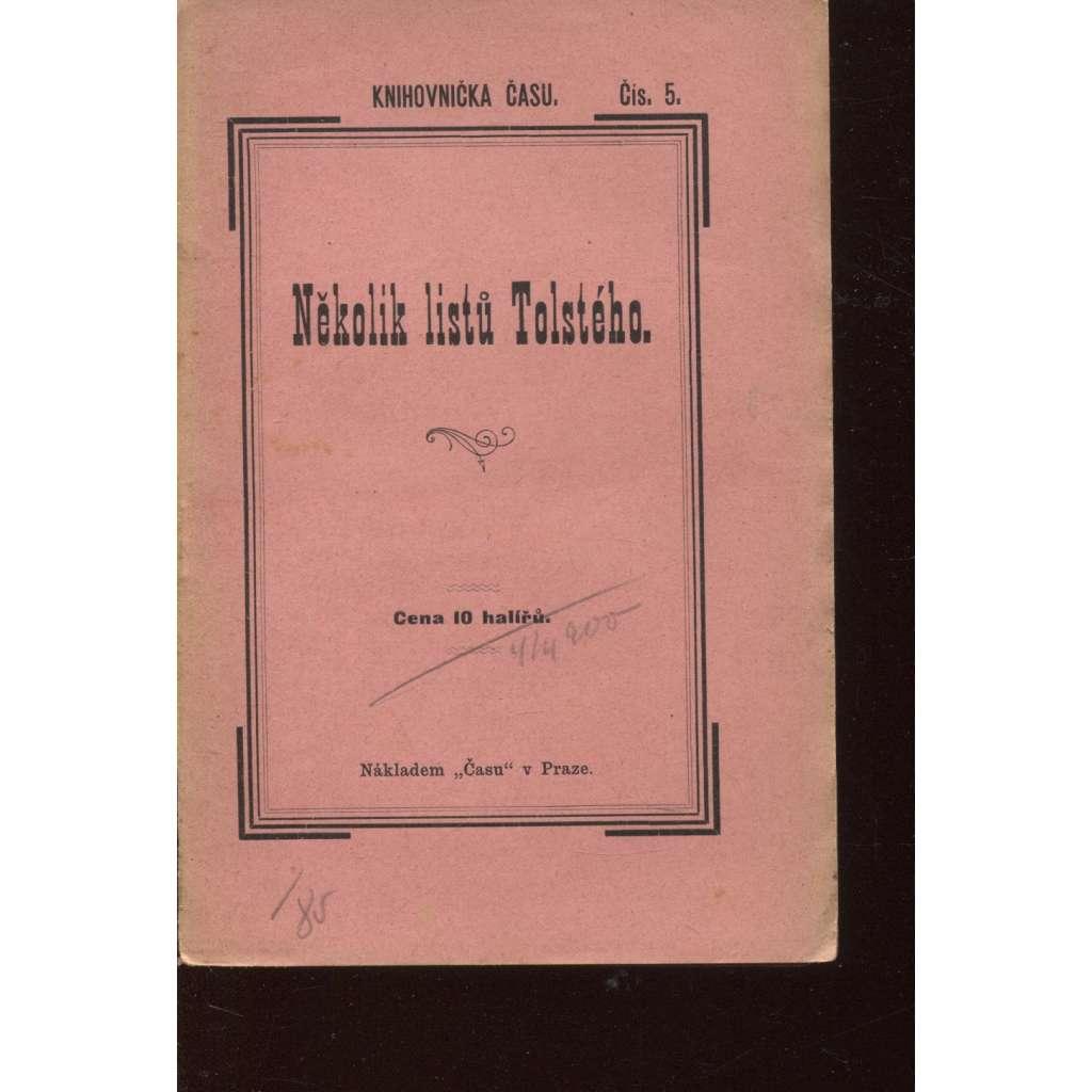 Několik listů Tolstého (Knihovnička Času)
