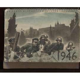 Vojenský kalendář 1946 (chybí 1 list)