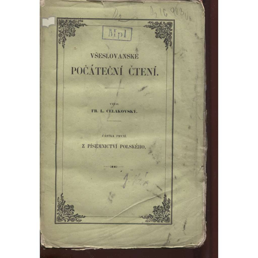 Všeslovanské počáteční čtení. I. Z písemnictví polského (1850)