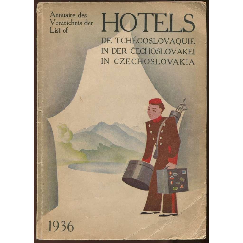 Annuaire des Hôtels de Tchécoslovaquie = Verzeichnis der Hotels in der Čechoslovakei = List of Hotels in Czechoslovakia 1936