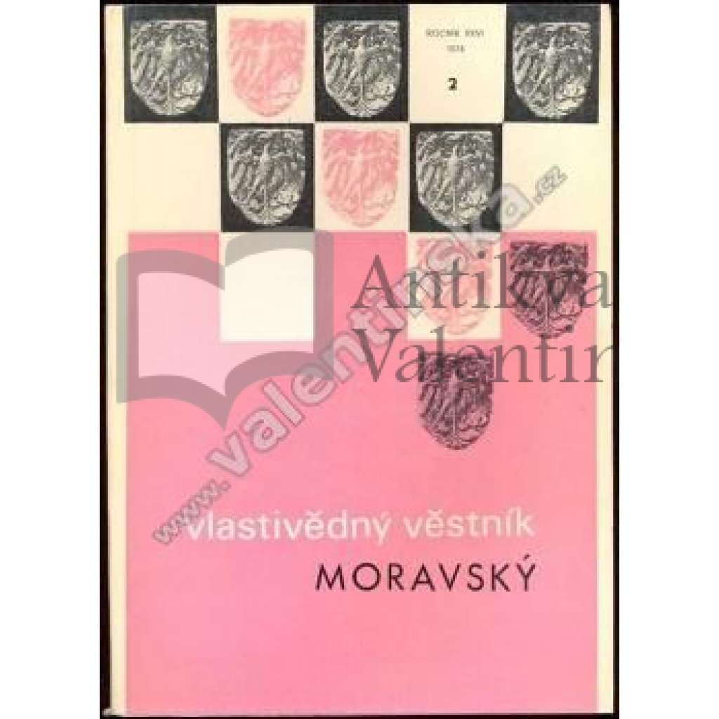 Vlastivědný věstník Moravský, roč. XXVI, č.2,1974