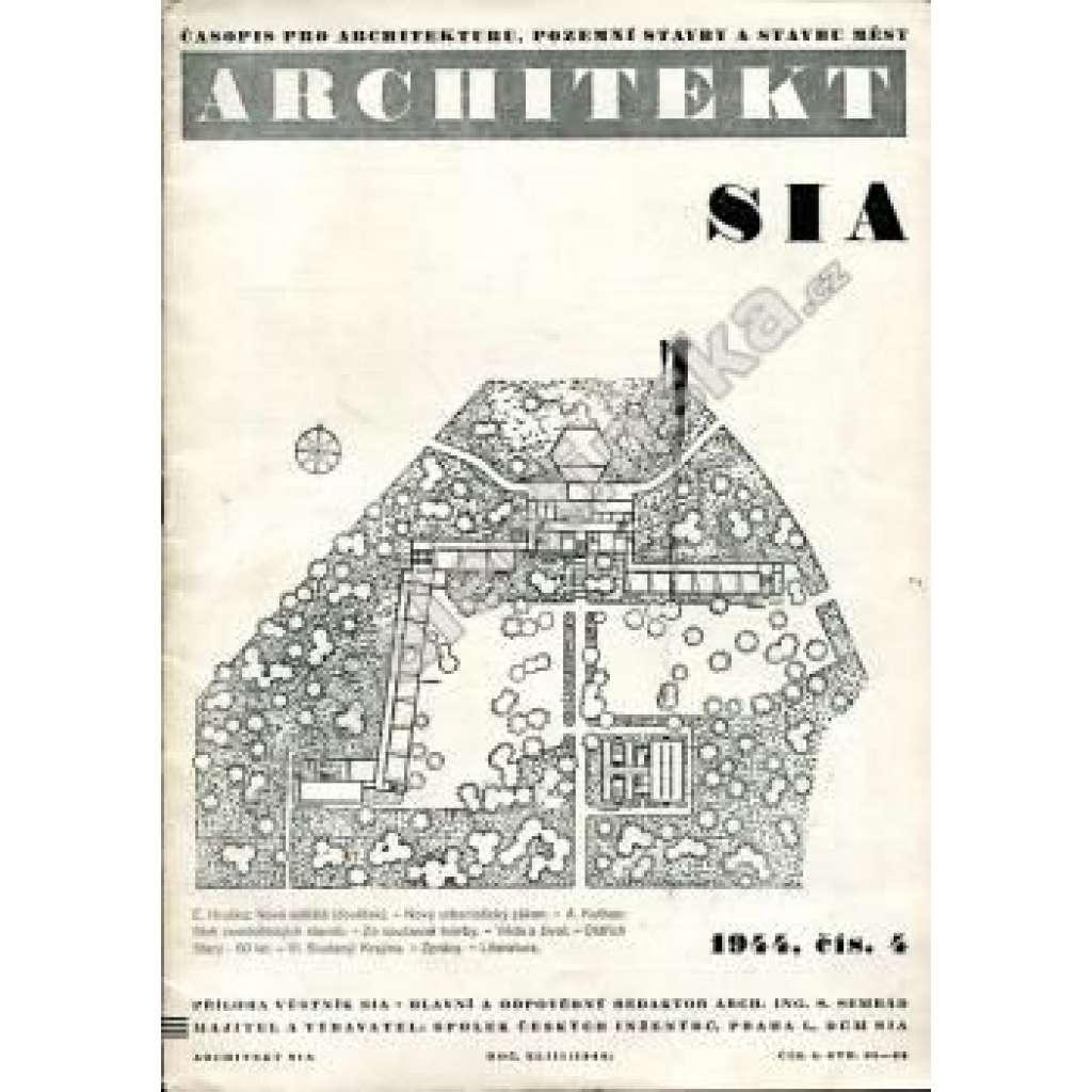 časopis Architekt, č. 4/1944