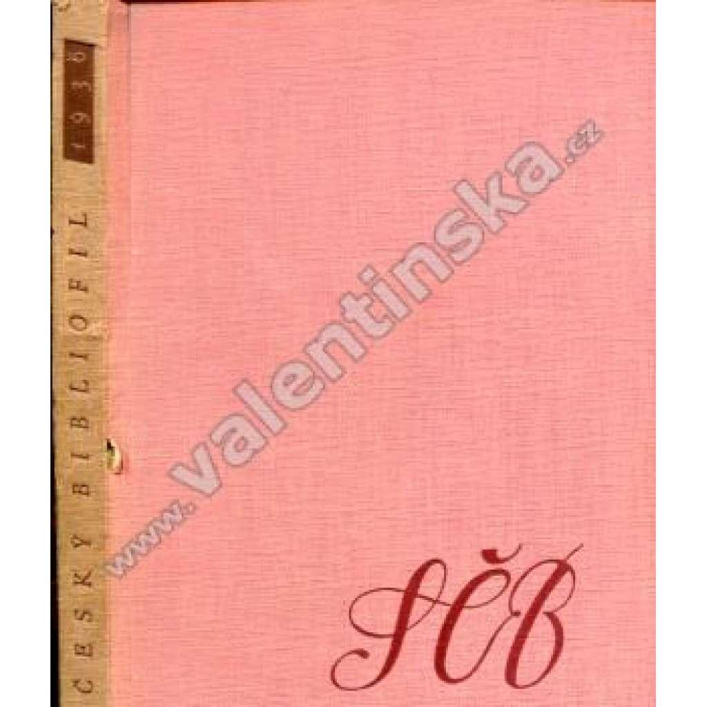 Český Bibliofil 1936, sborník, VIII. ročník