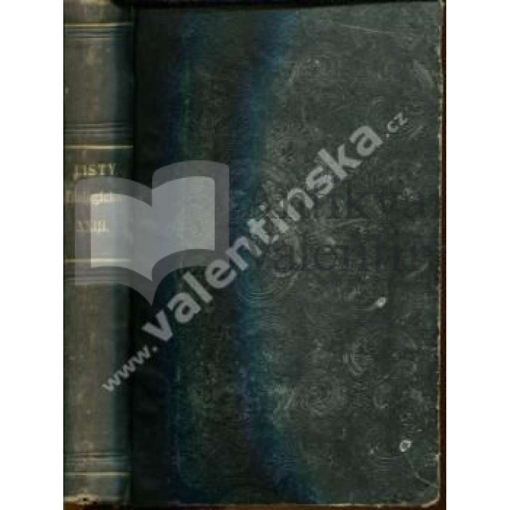 Listy filologické, ročník 23. (1896)
