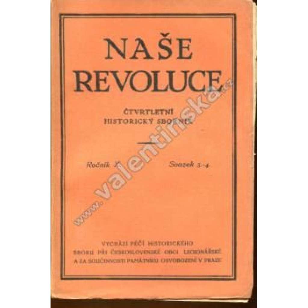 Naše revoluce, roč. X., svazek 3.-4.