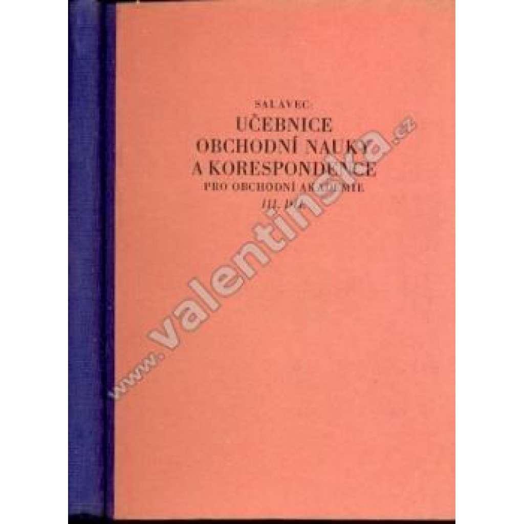 Učebnice obchodní nauky a korespondence, III. díl