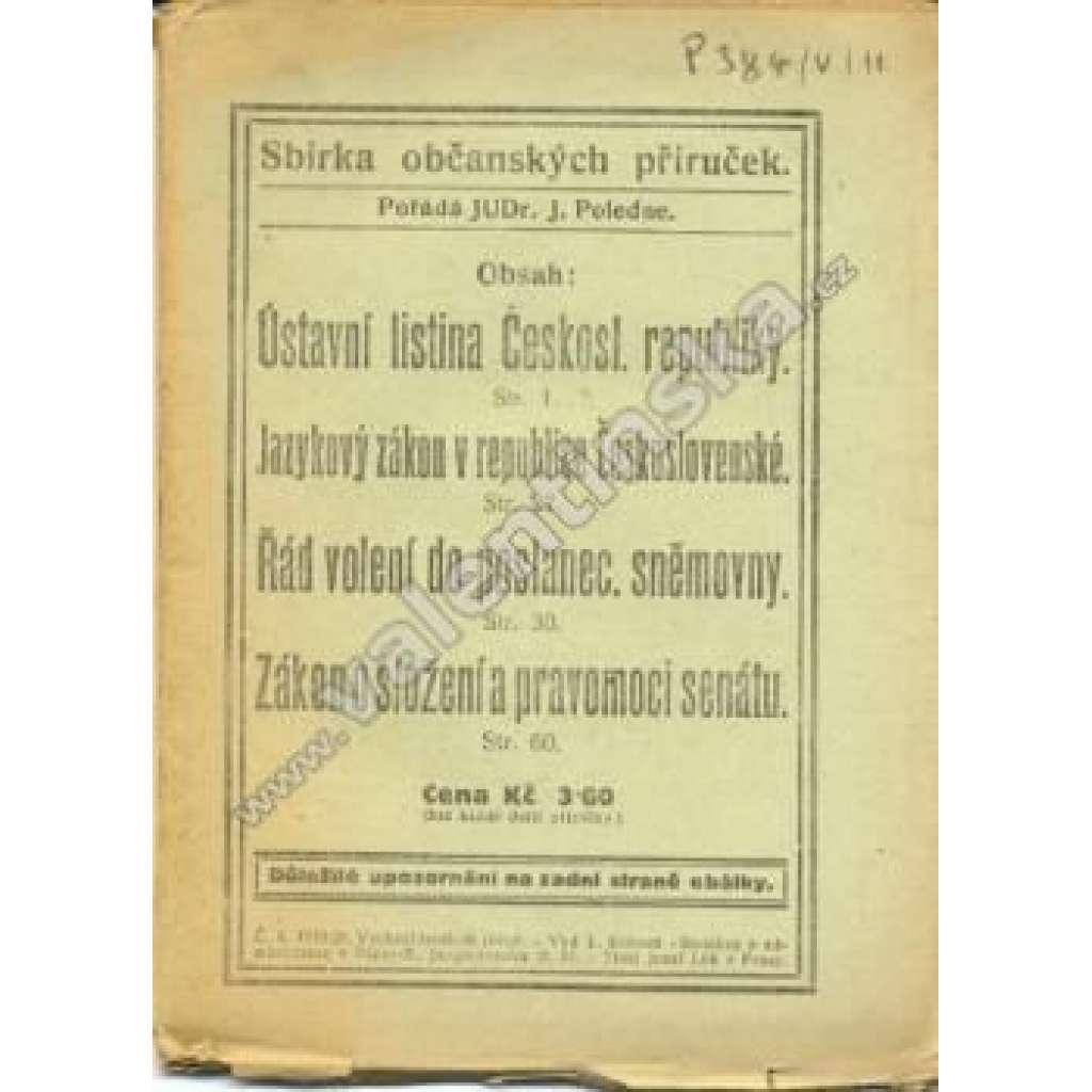 Sbírka občanských příruček, č. 4. 1919/20