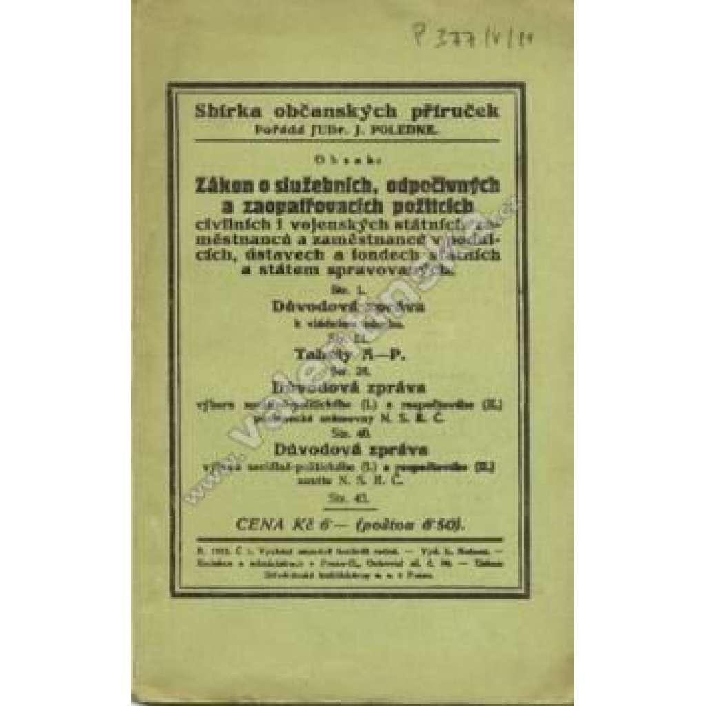 Sbírka občanských příruček, č. 1. 1923
