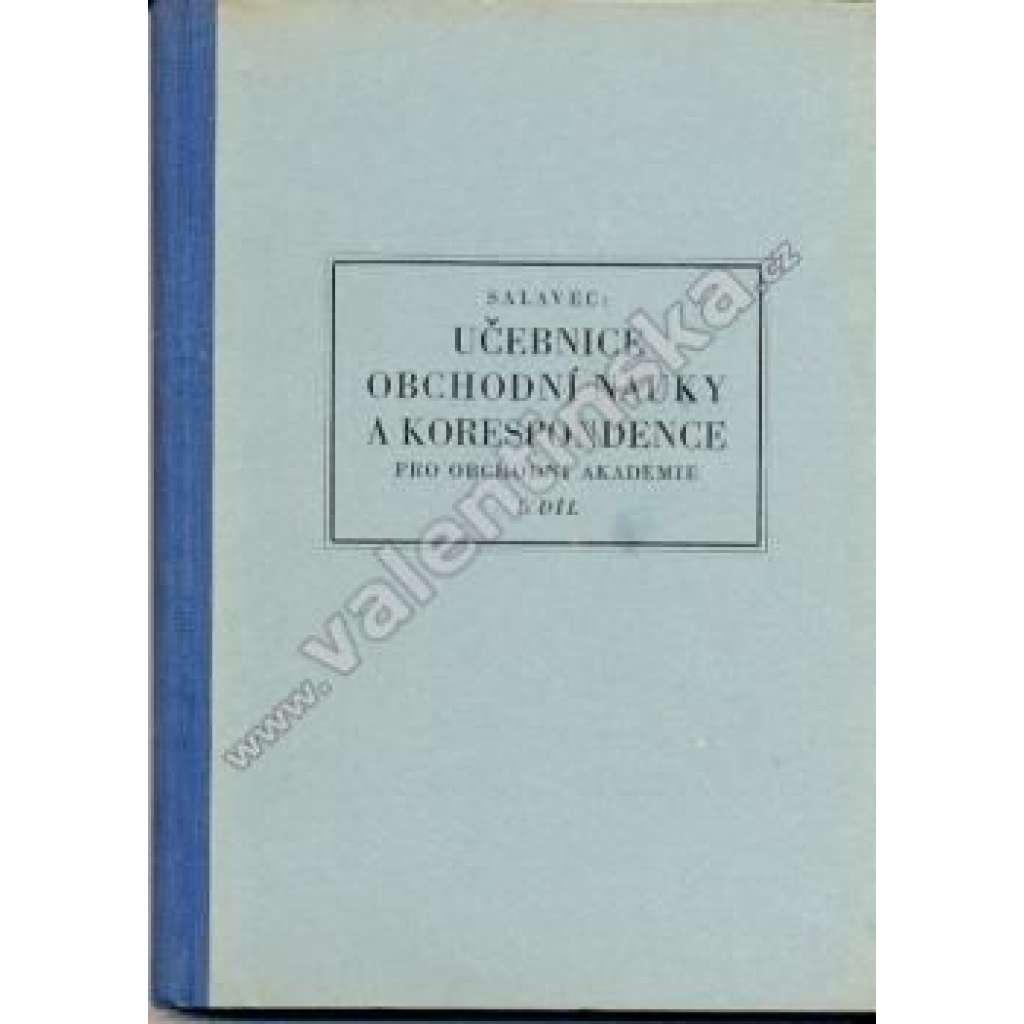 Učebnice obchodní nauky a korespondence, I. díl
