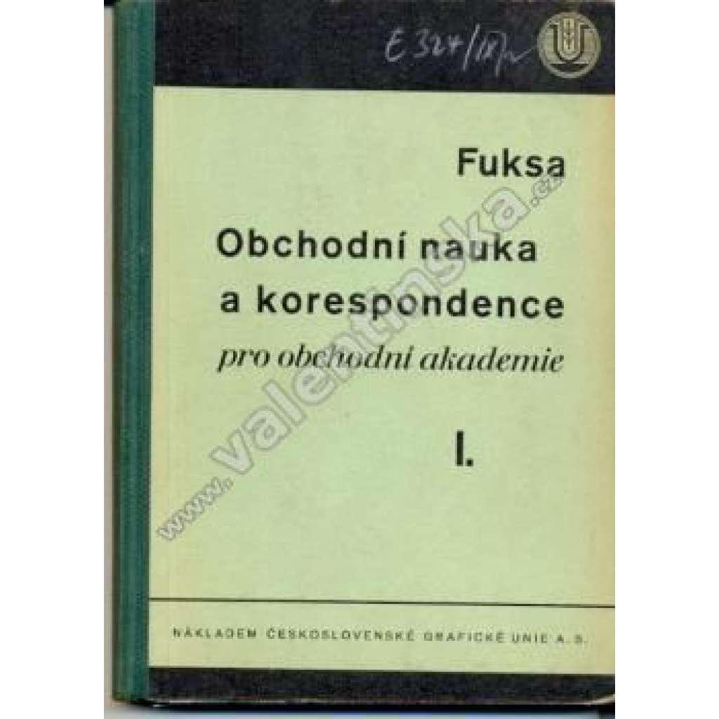Obchodní nauka a korespondence pro OA, I.
