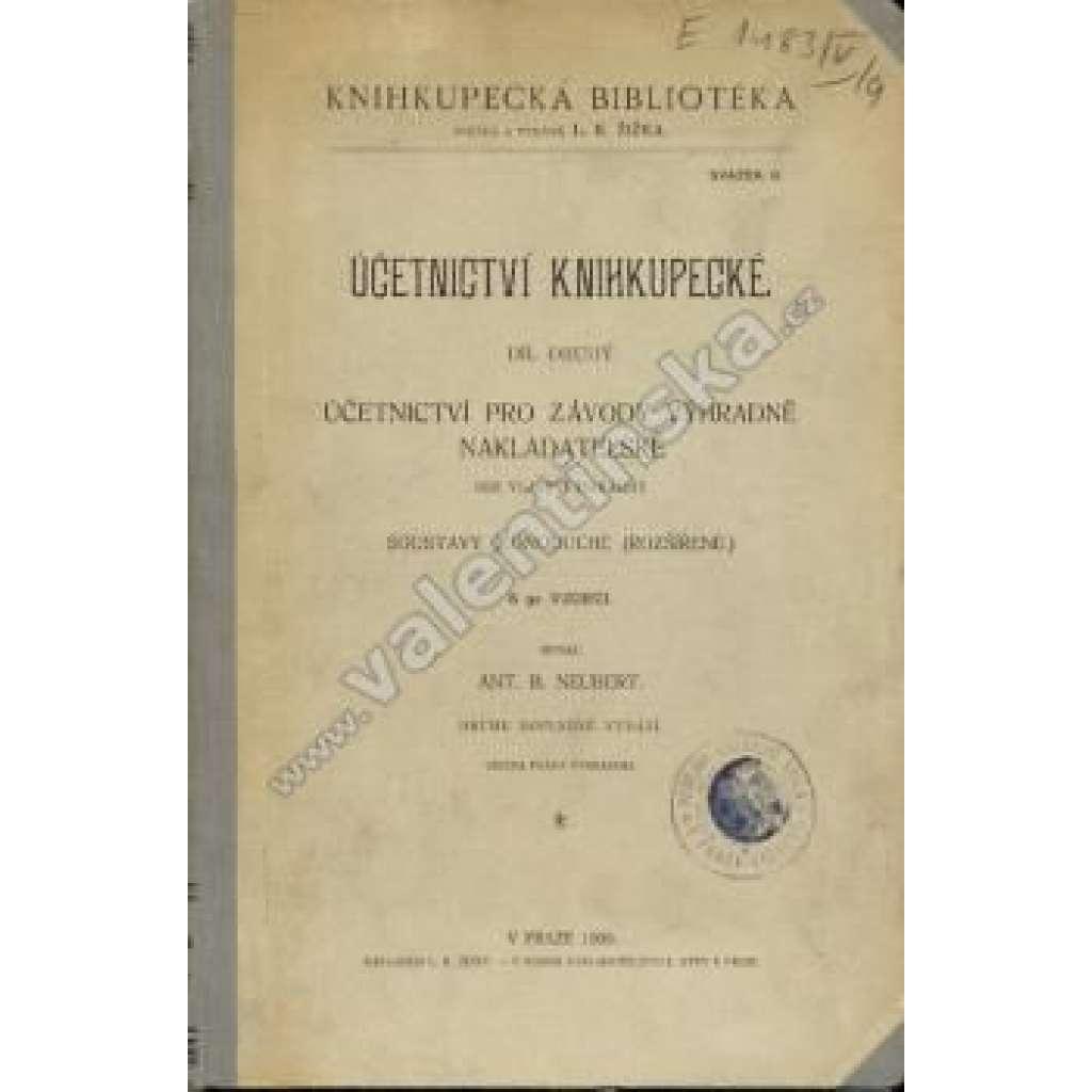 Učetnictví knihkupecké, díl II.