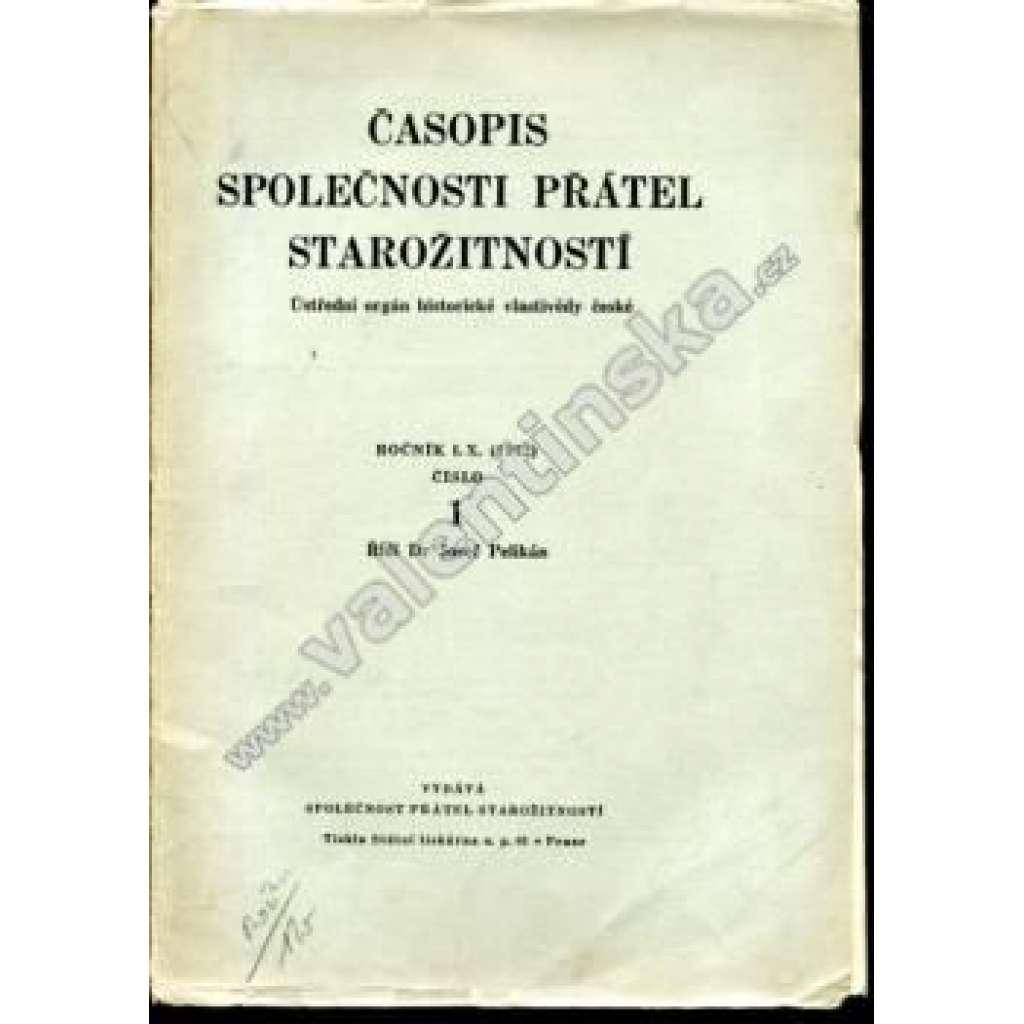 Časopis Společnosti přátel starožitností, r. LX.