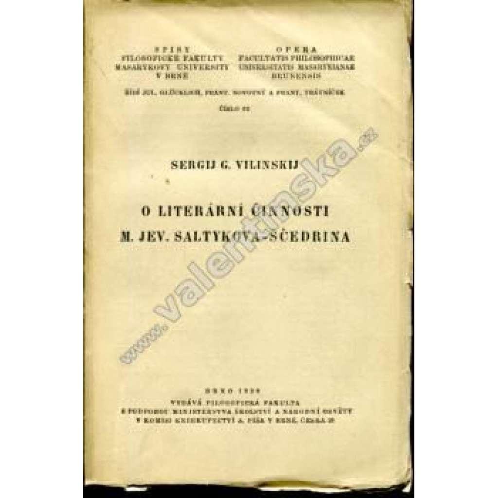 O literární činnosti M. Jev. Saltykova-Ščedrina