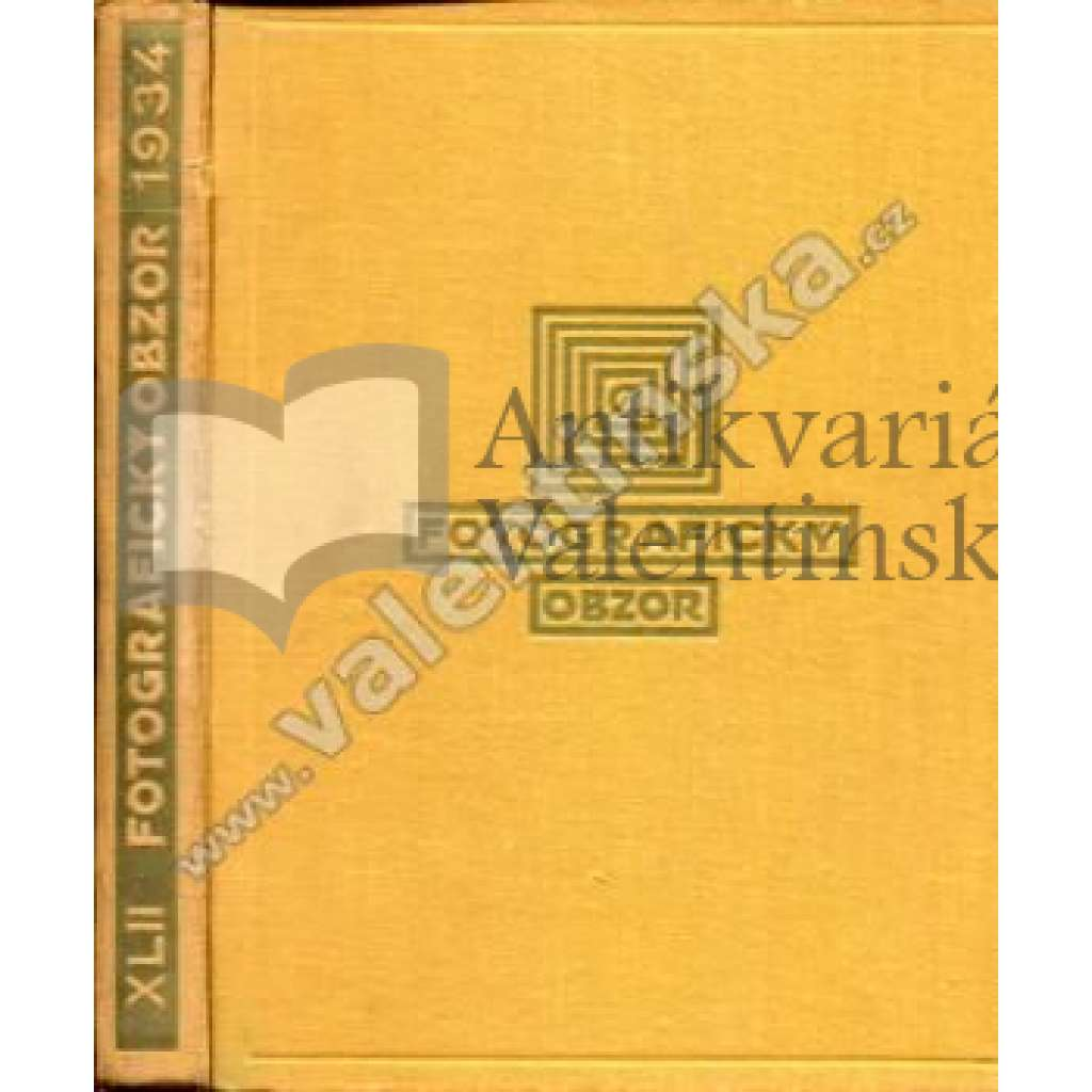 Fotografický obzor, ročník XLII. (1934)