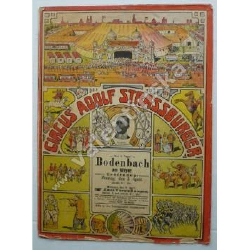 Reklama program Cirkus Strassburger