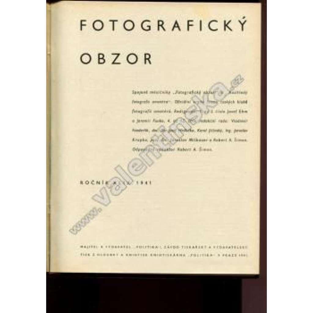 Fotografický obzor, ročník XLIX. (1941)