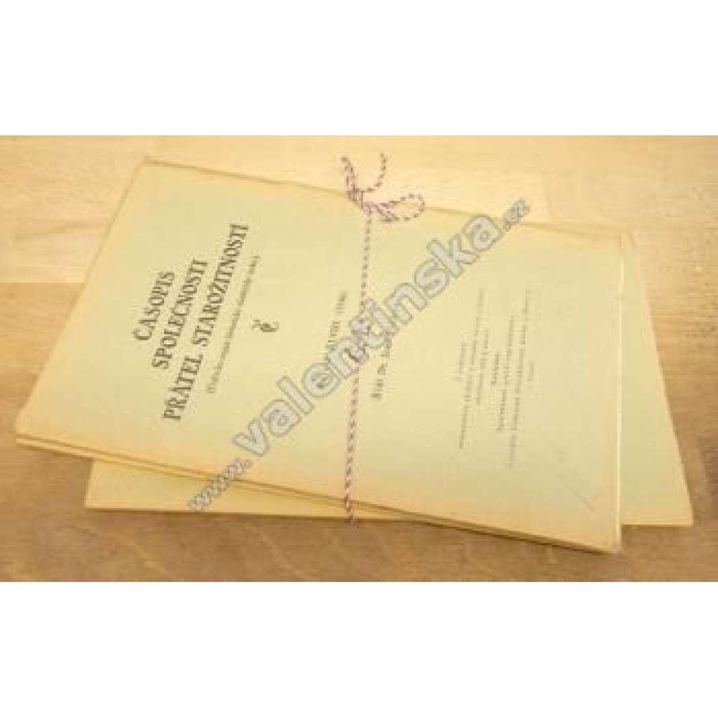 Časopis Společnosti přátel starožitností, XLVIII.