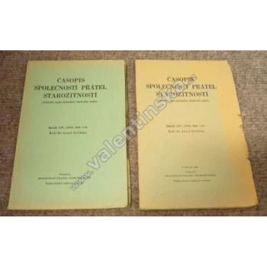Časopis Společnosti přátel starožitností, LIV.