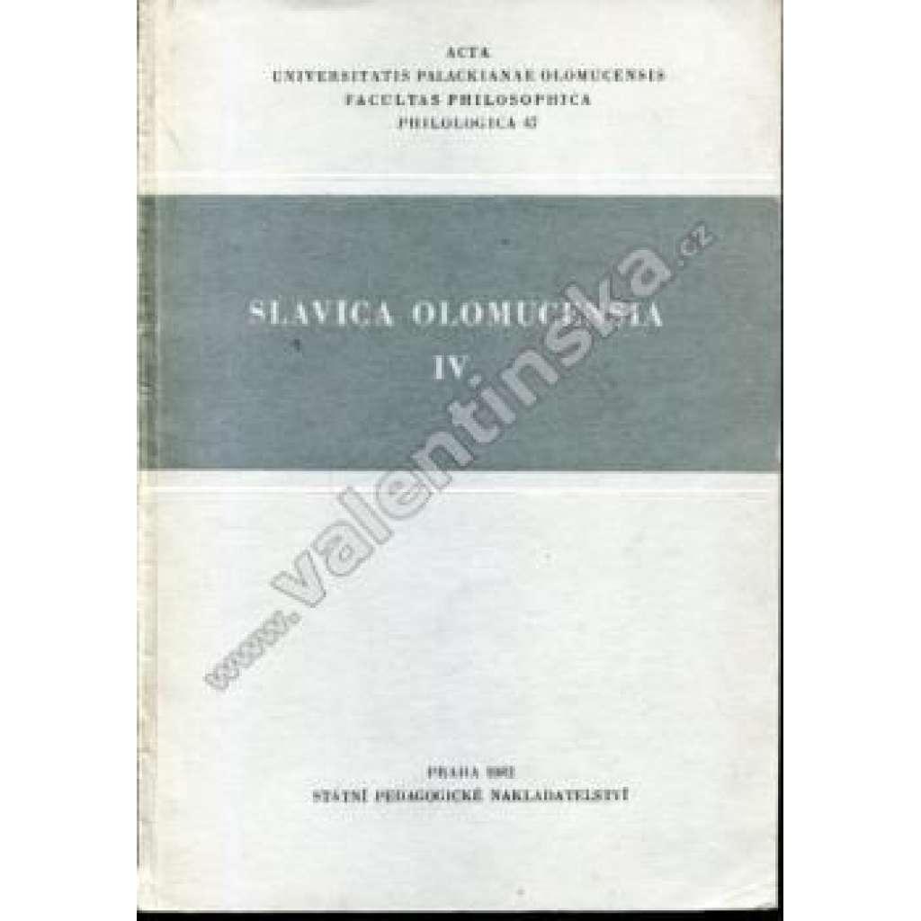 Slavica Olomuncensia, IV. (1982)