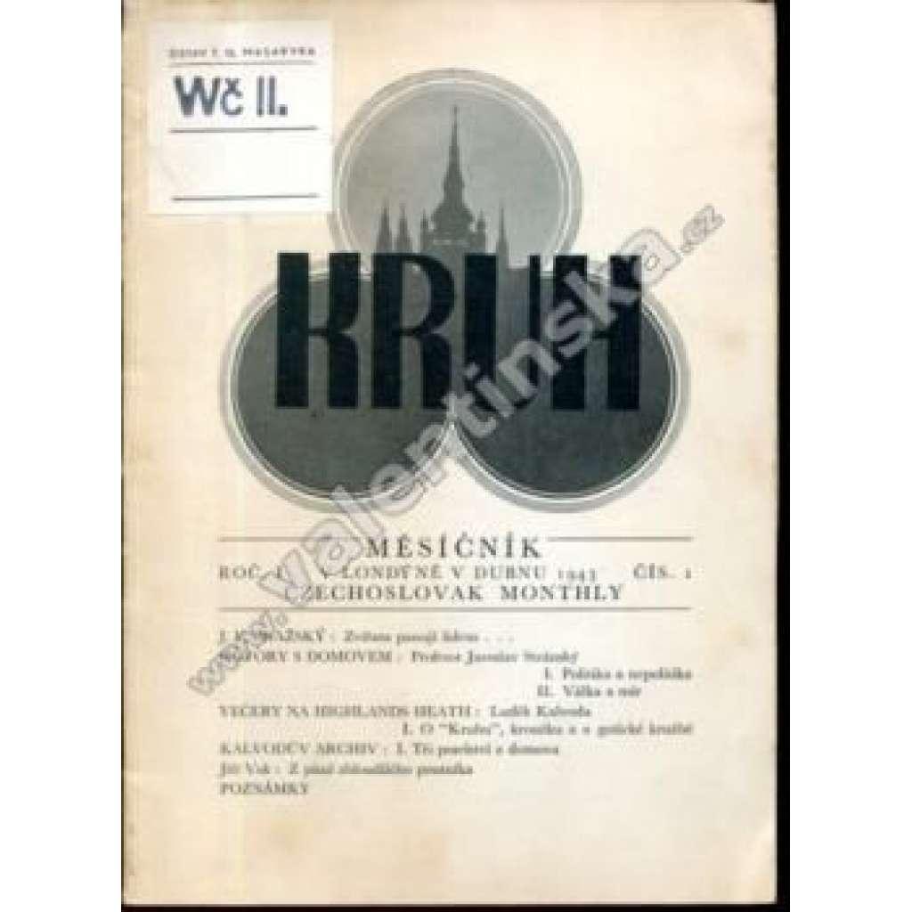 Kruh - exilový měsíčník; I/1 (1943)