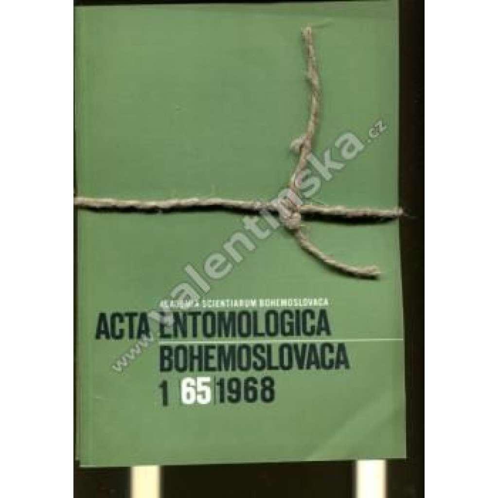 Acta entomologica bohemoslovaca 1968