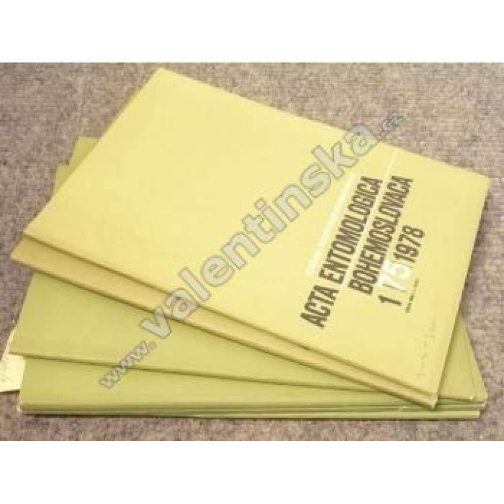 Acta entomologica bohemoslovaca, 75. (1978)