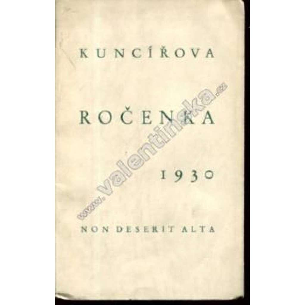 Kuncířova ročenka, 1930