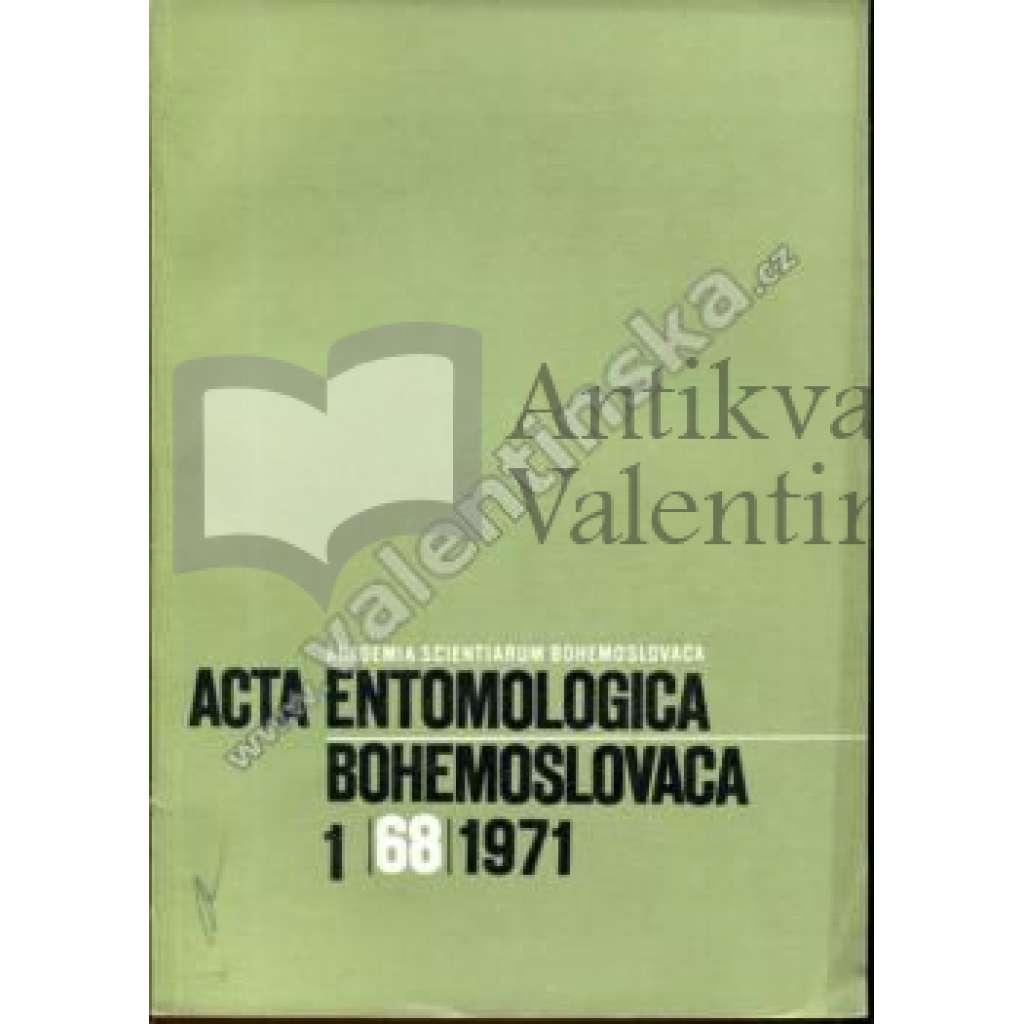 Acta entomologica bohemoslovaca, 1/1971