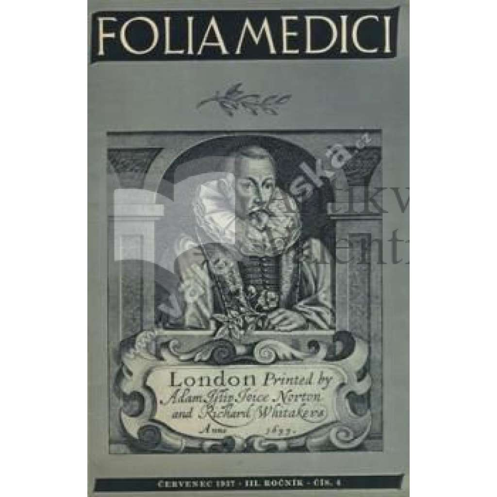Folia Medici. III.ročník. sešit č.4, 1937