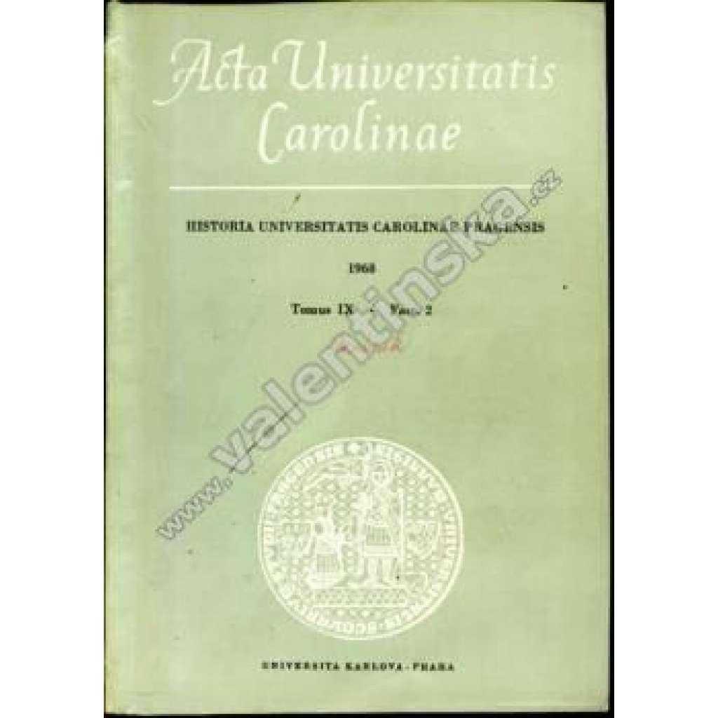 Historia Universitatis Carolinae Pragensis, IX/2