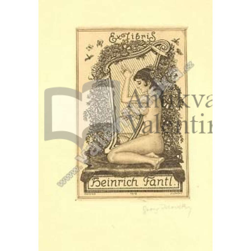 Georg Jilovsky (1884-1958) Ex-libris Heinrich Fantl