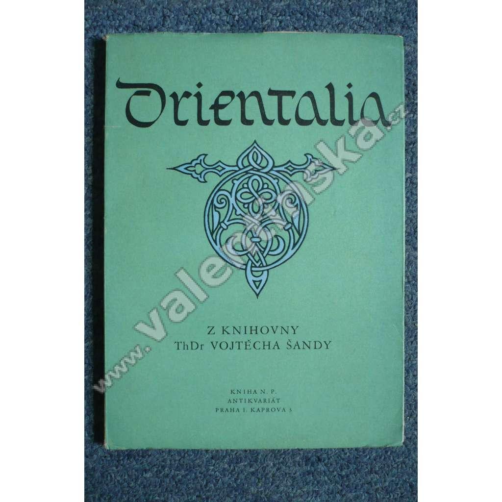Orientalia z knihovny ThDr. Vojtěcha Šandy
