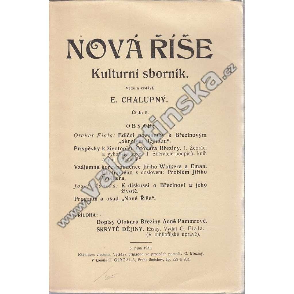 Nová Říše, 5. číslo (1931)