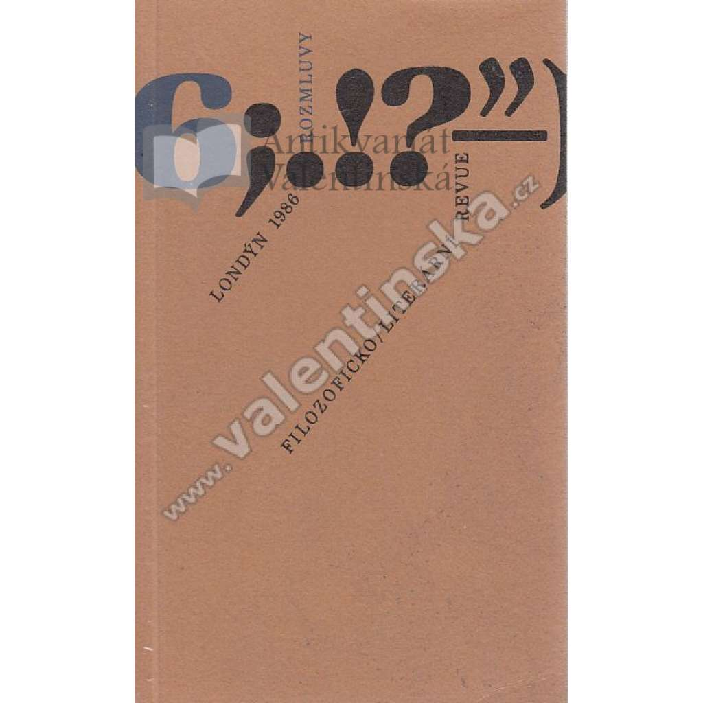 Rozmluvy, 6/1986 (exil!)