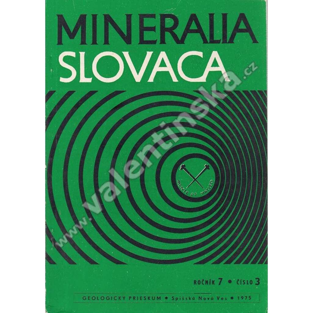 Mineralia Slovaca, roč. 7. (1975), č. 3