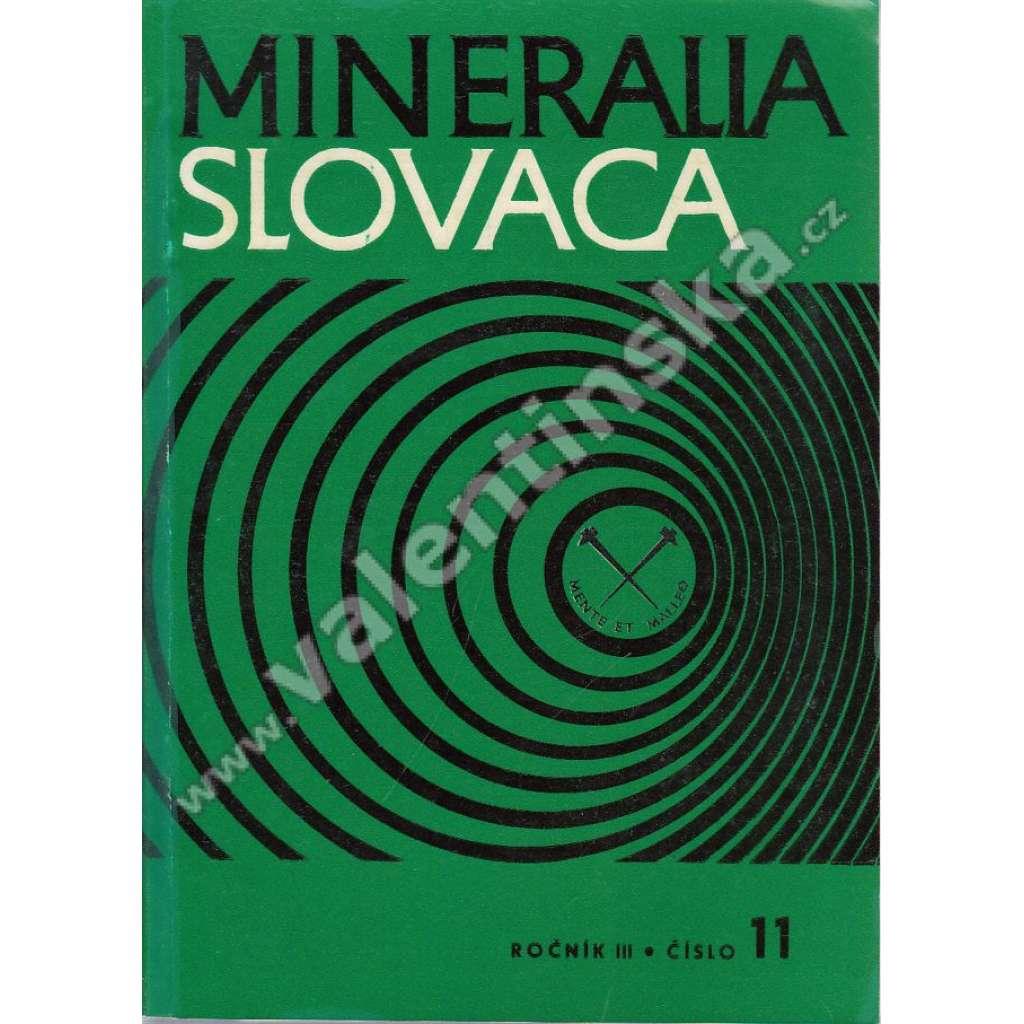 Mineralia Slovaca, roč. III. (1971), č. 11