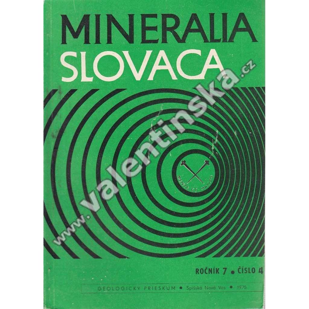 Mineralia Slovaca, roč. 7. (1975), č. 4