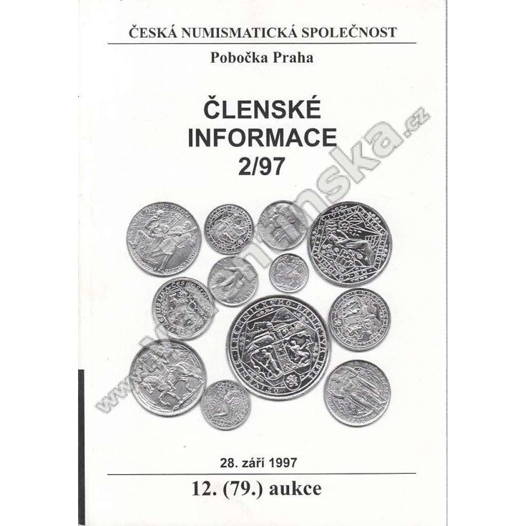 Česká numismatická spol. - Členské informace, 2/97