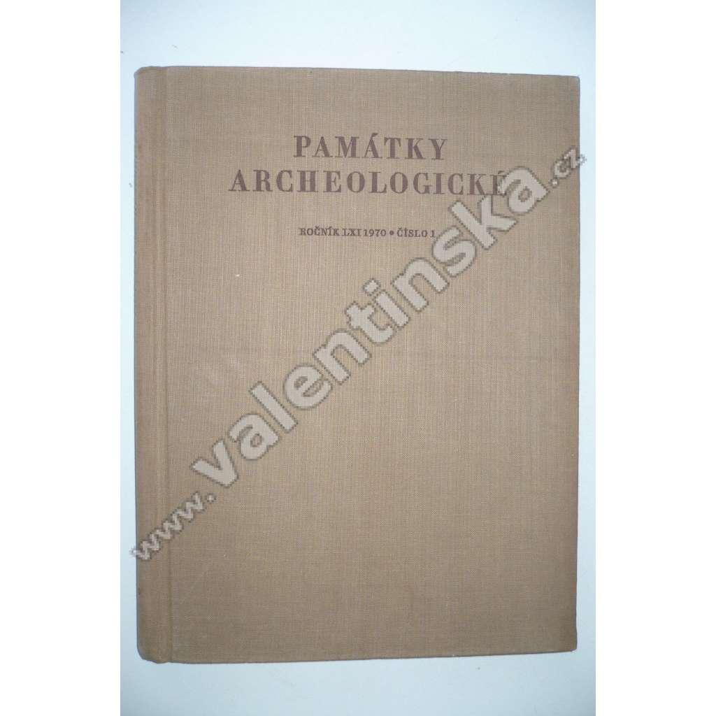 Památky archeologické, ročník LXI 1970, č. 1