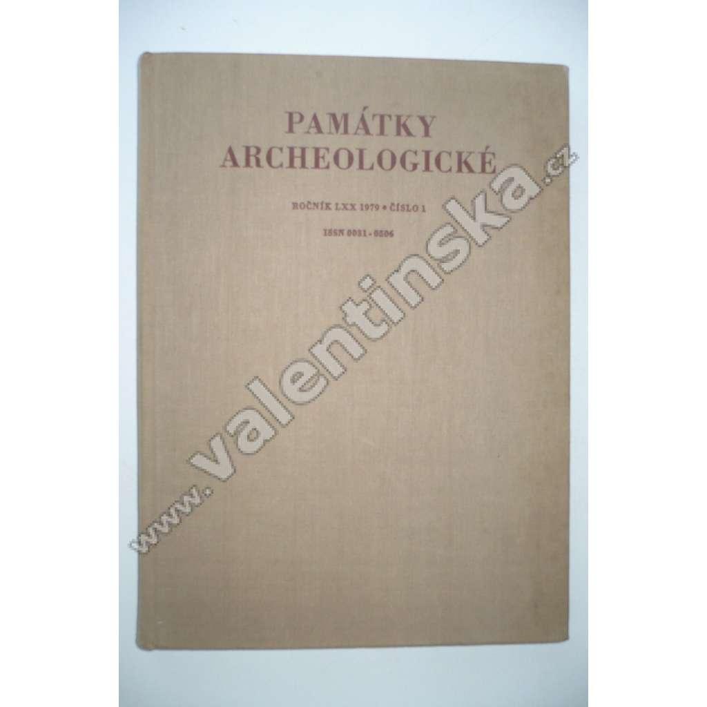 Památky archeologické, ročník LXX 1979, č. 1