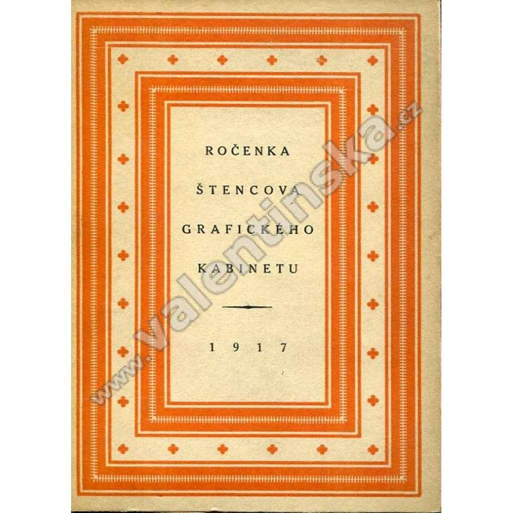 Ročenka Štencova grafického kabinetu, 1917