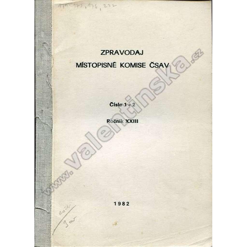 Zpravodaj Místopisné komise ČSAV, 1982