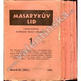 Masarykův lid, r. IX. (XIII.), 1934