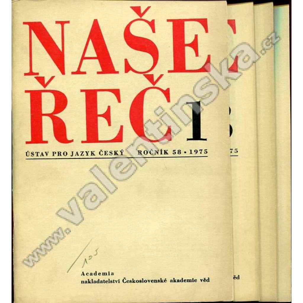 Naše řeč, r. 58. (1975) - nekompletní!
