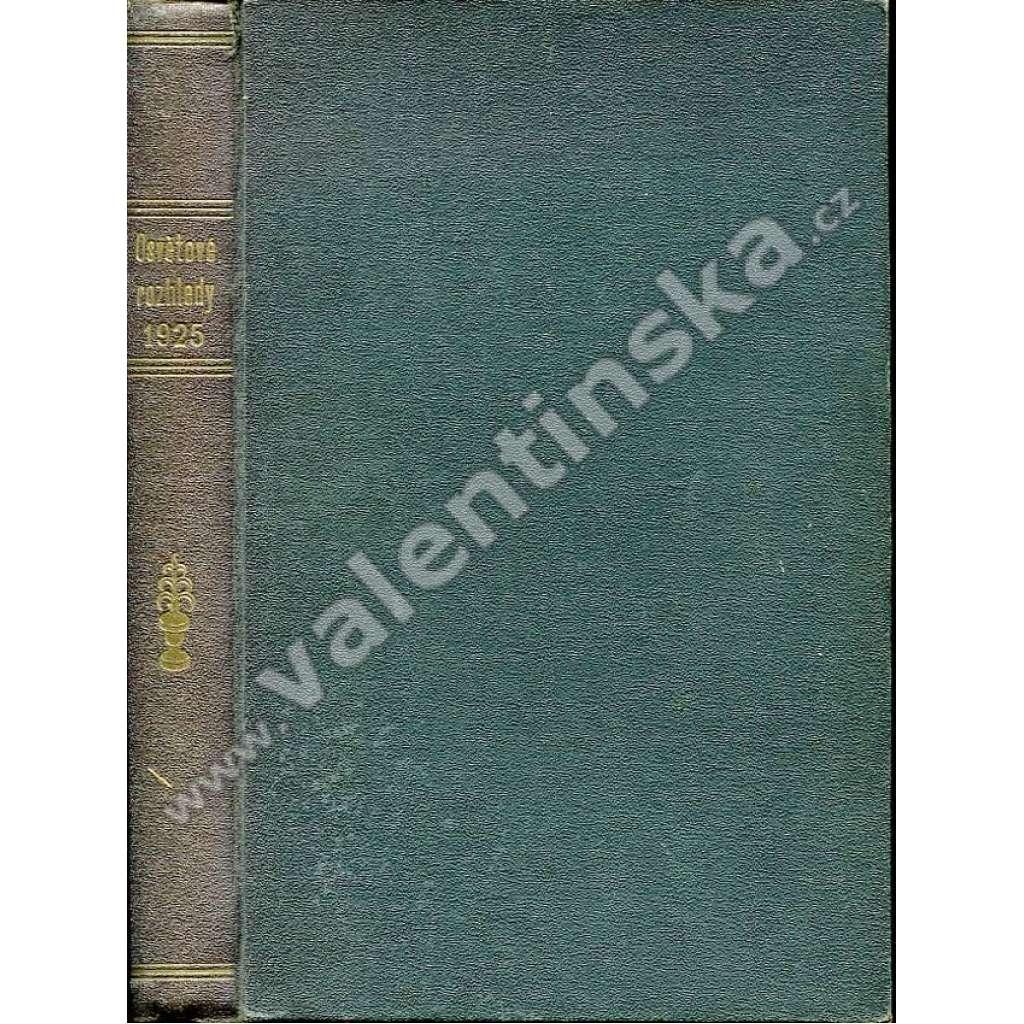 Osvětové rozhledy, r. IV. (1925)
