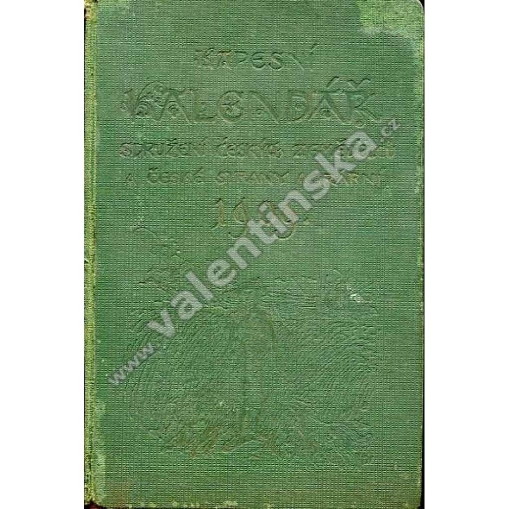 Kapesní kalendář Sdružení čes. zemědělců, 1909