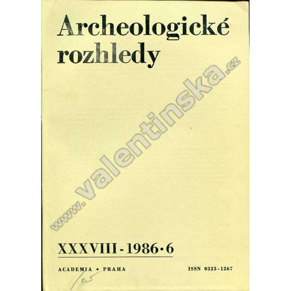 Archeologické rozhledy, 1986/6