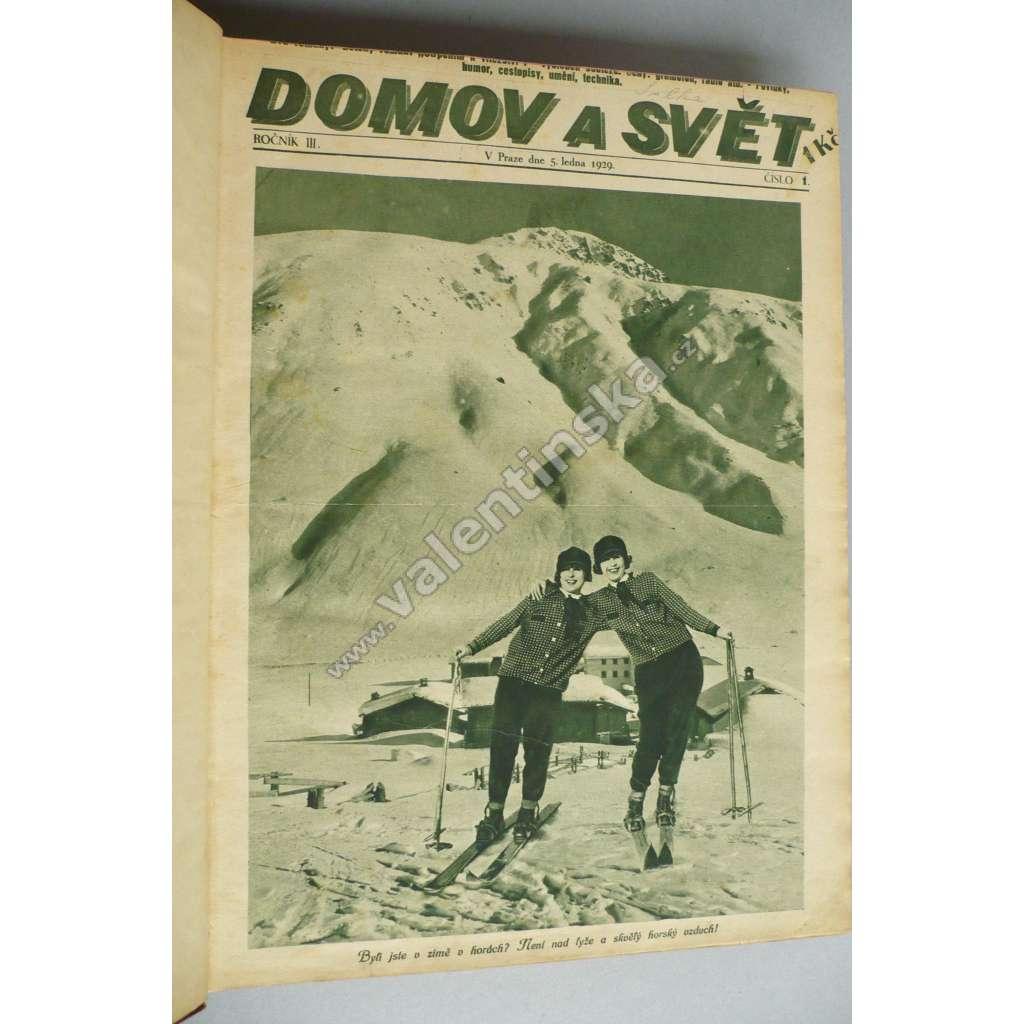 ČASOPIS DOMOV A SVĚT 1929 - 1-52